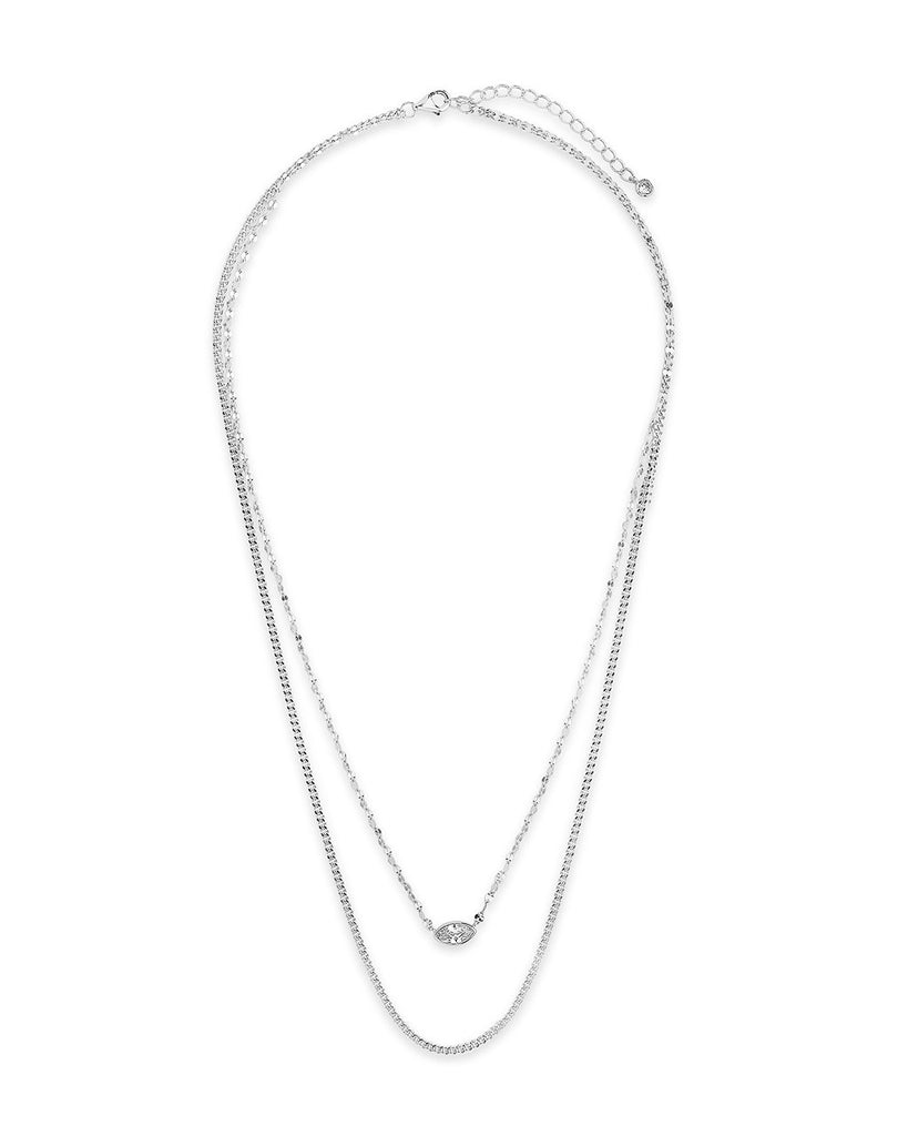 CZ Dainty Layered Necklace Necklace Sterling Forever