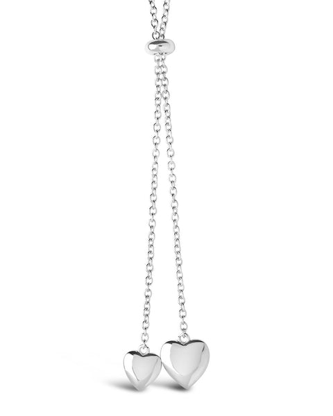 Dangling Heart Bolo Slider Necklace