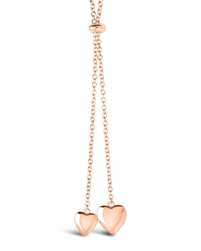 Dangling Heart Bolo Slider Necklace - Sterling Forever