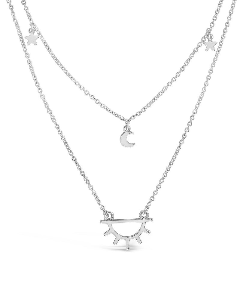 Moon, Star, & Sun Layered Necklace - Sterling Forever