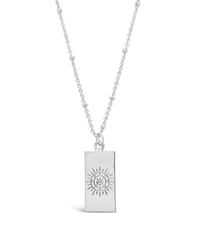 Wheel of Fortune Tarot Card Necklace - Sterling Forever