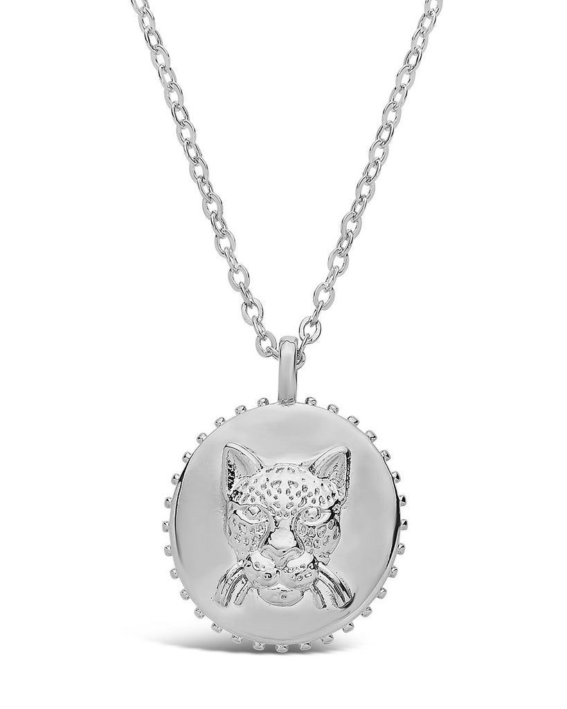 Untamed Medallion Pendant Necklace Sterling Forever Silver Jaguar