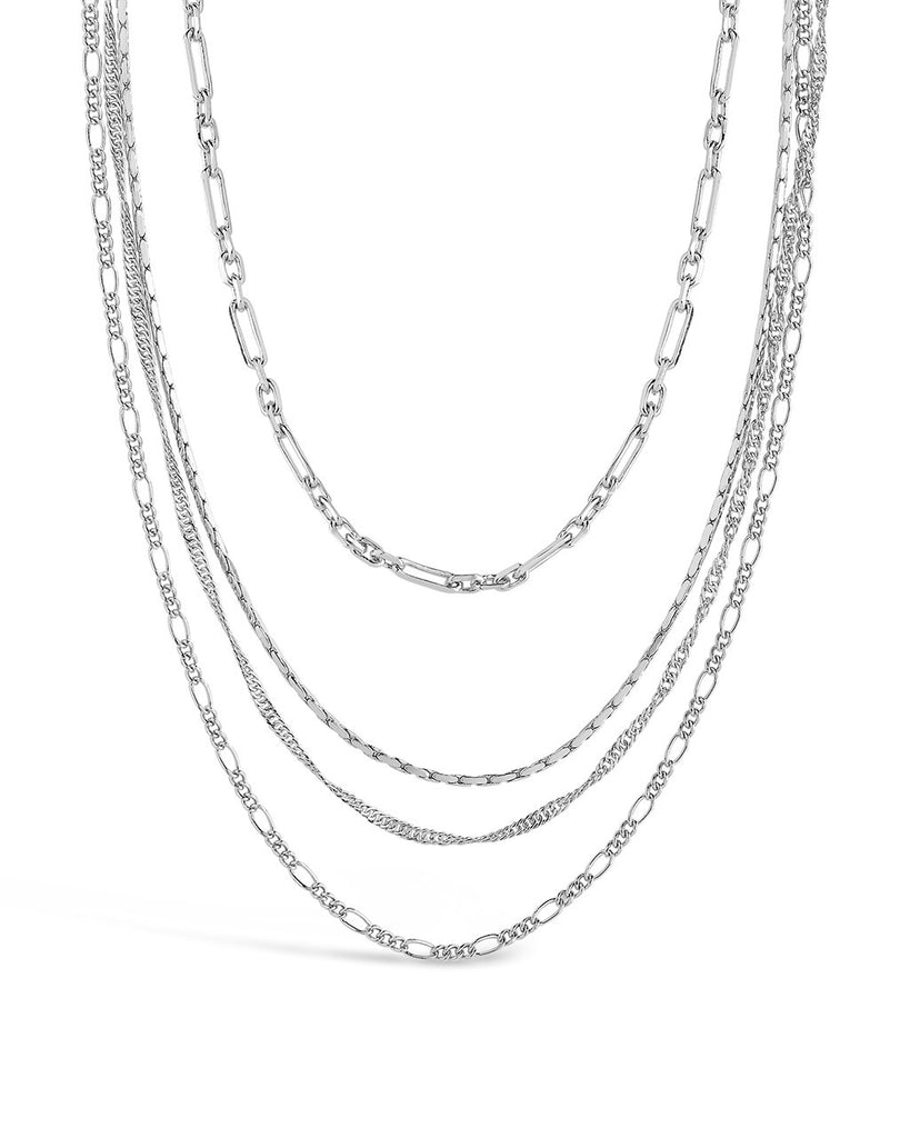 Multi Chain Layered Necklace - Sterling Forever