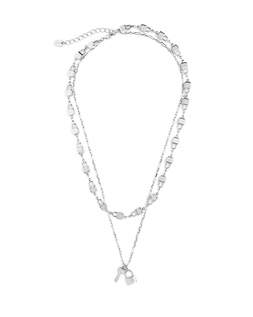 Lock & Key Layered Necklace Necklace Sterling Forever