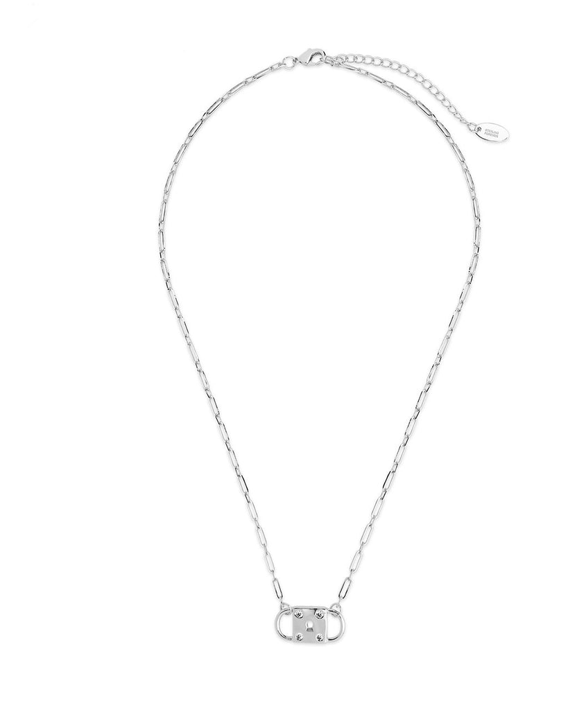 Double Padlock Pendant Necklace Sterling Forever