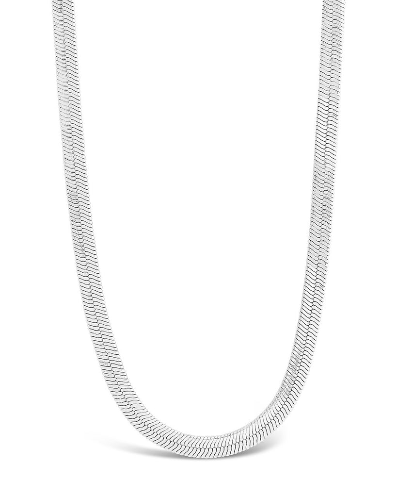 Herringbone Chain Necklace Sterling Forever