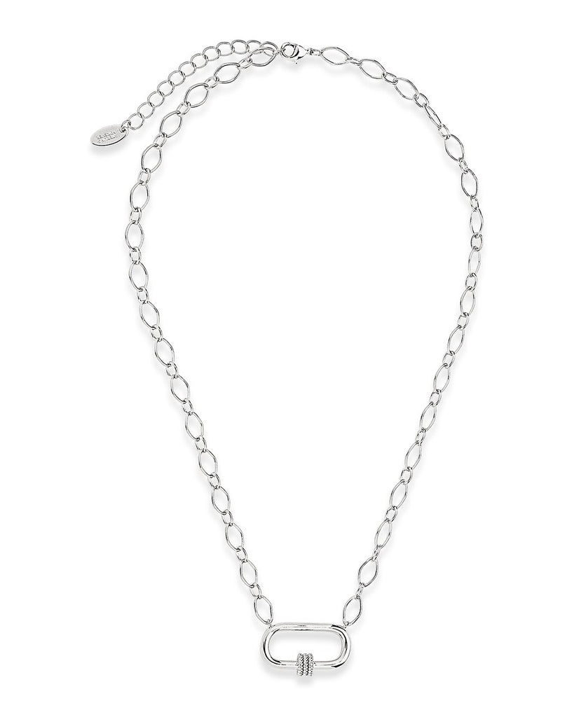Polished Carabiner Pendant Necklace Necklace Sterling Forever