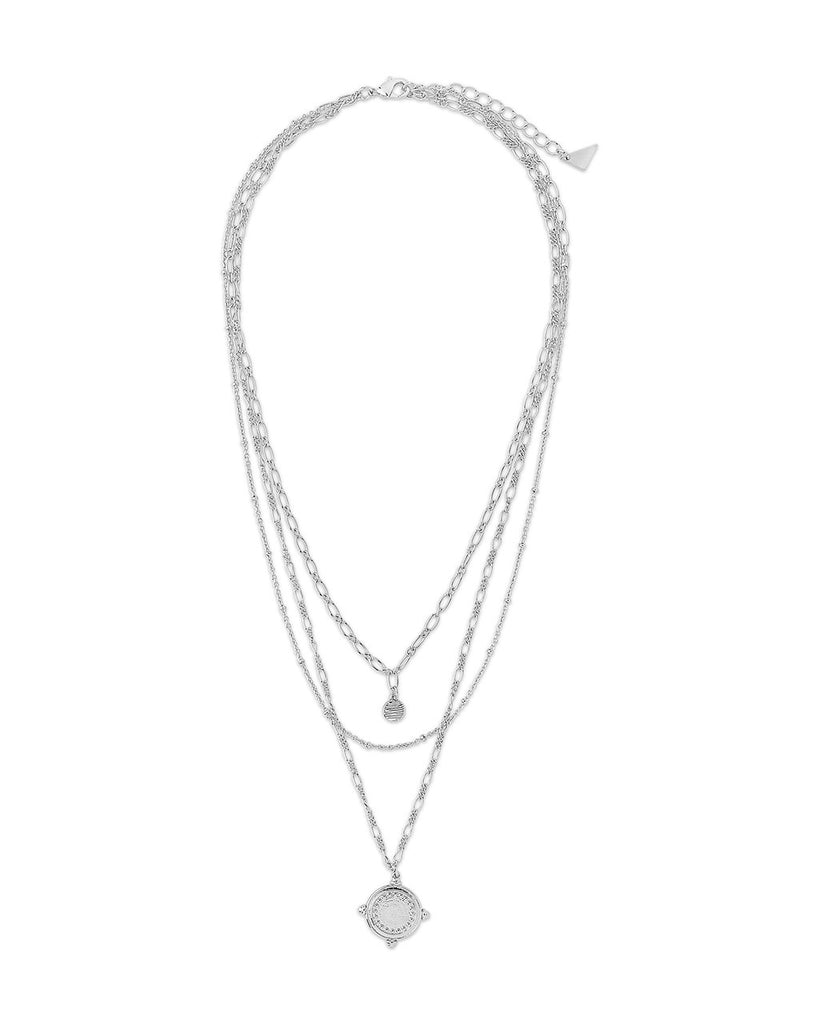 Three Layer Medallion Necklace Necklace Sterling Forever