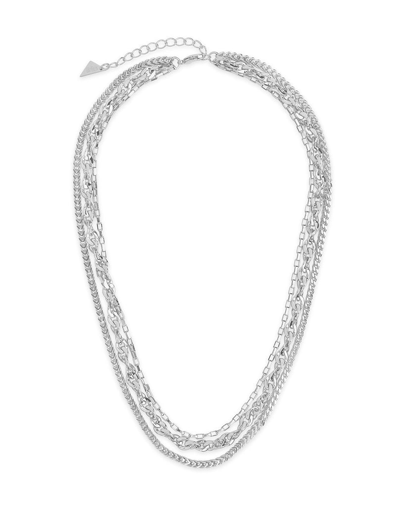 Three Layer Bold Chain Necklace Necklace Sterling Forever