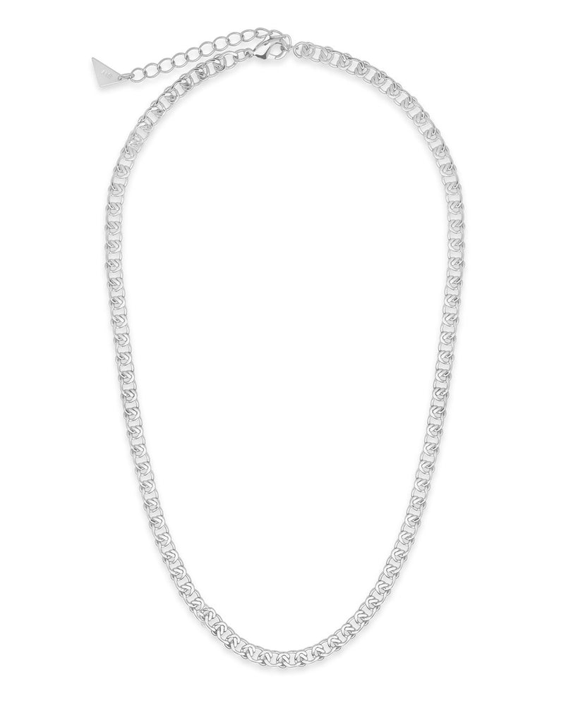 Interlocking Curb Chain Necklace Sterling Forever