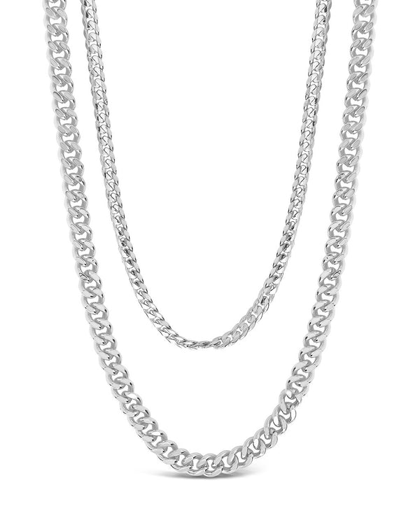 Everyday Layered Curb Chain Necklace Necklace Sterling Forever Silver
