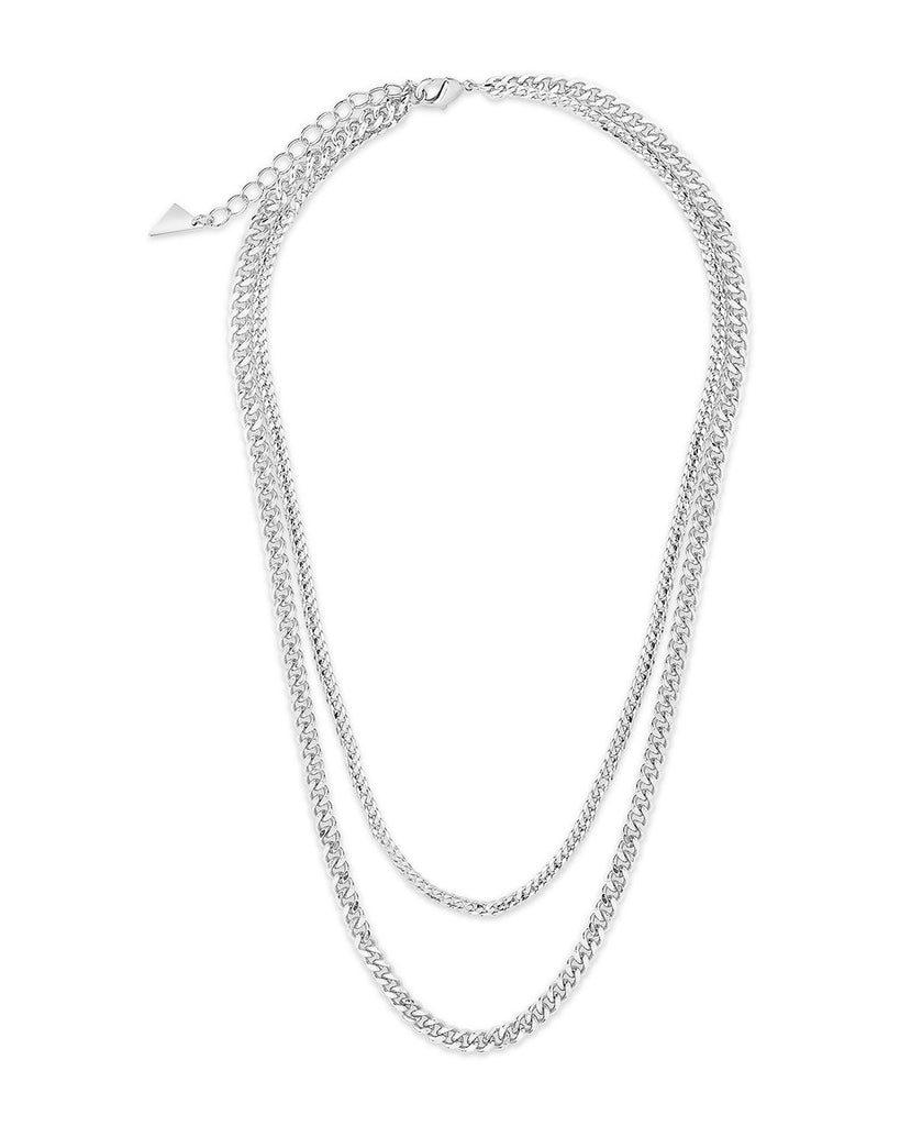 Everyday Layered Curb Chain Necklace Necklace Sterling Forever