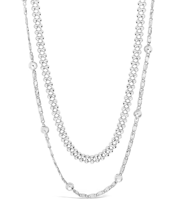 Layered Beaded Chain Necklace Necklace Sterling Forever Silver