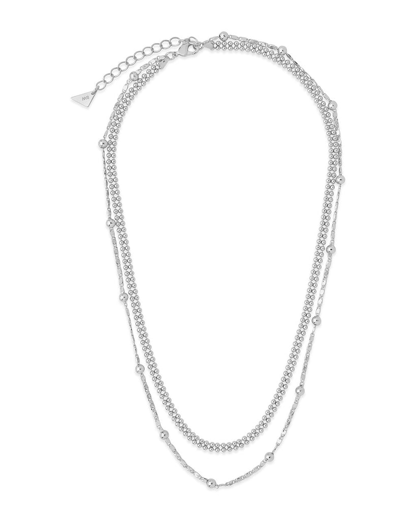 Layered Beaded Chain Necklace Necklace Sterling Forever