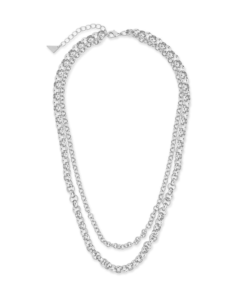 Bold Layered Rolo Chain Necklace Necklace Sterling Forever