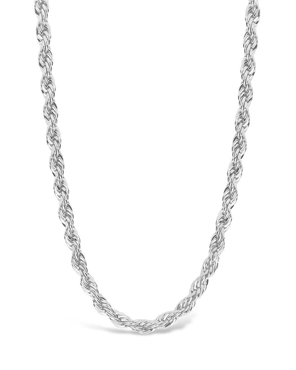 Rope Twist Chain Necklace Sterling Forever Silver
