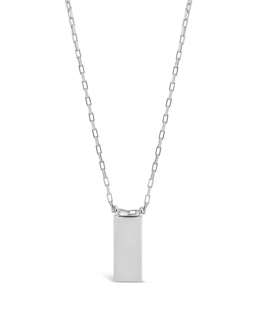 Sterling Silver Mini Tag Necklace Necklace Sterling Forever Silver
