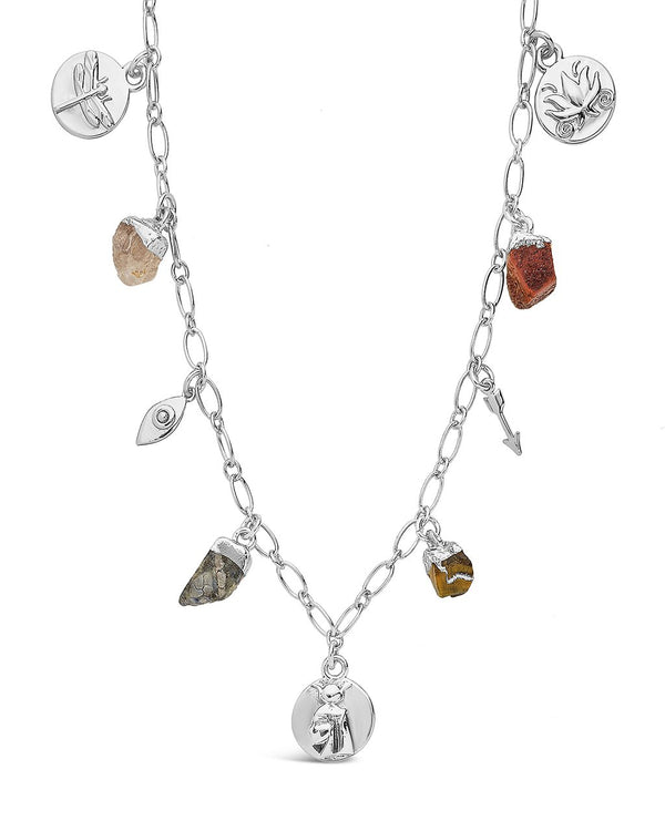 Multi Charm Chain Necklace Necklace Sterling Forever Silver