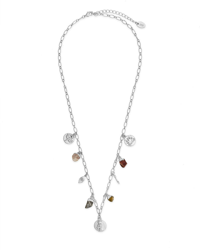 Multi Charm Chain Necklace Necklace Sterling Forever