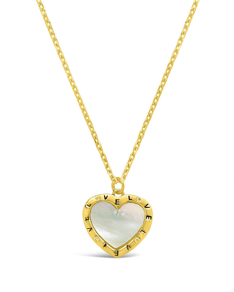Mother of Pearl Heart Necklace - Sterling Forever
