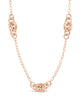 Sterling Silver Delicate Knot Station Necklace Necklace Sterling Forever Rose Gold