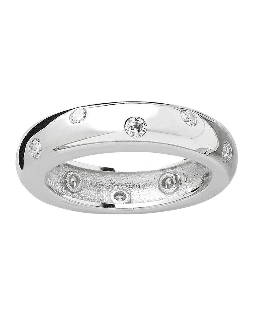 Sterling Silver Cubic Zirconia Etoile Band - Sterling Forever