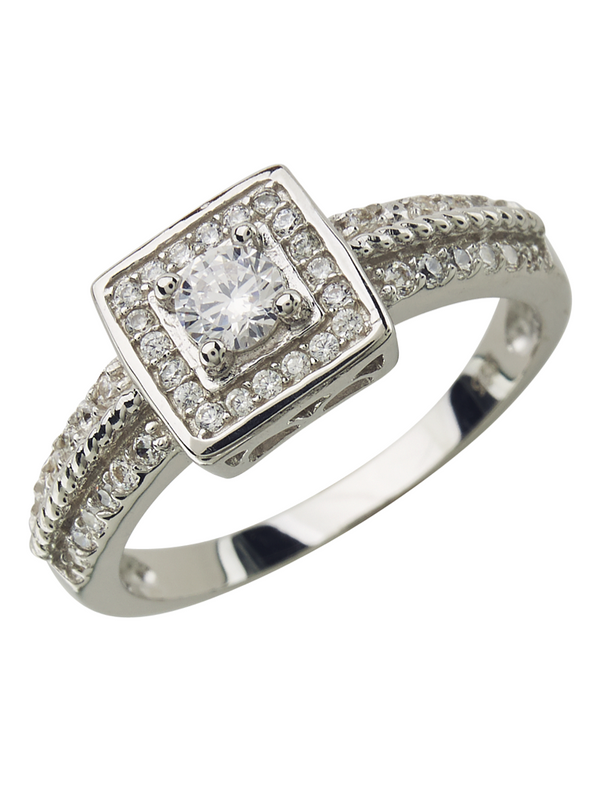 Sterling Silver Hollywood Legend Diamond CZ Ring - Sterling Forever