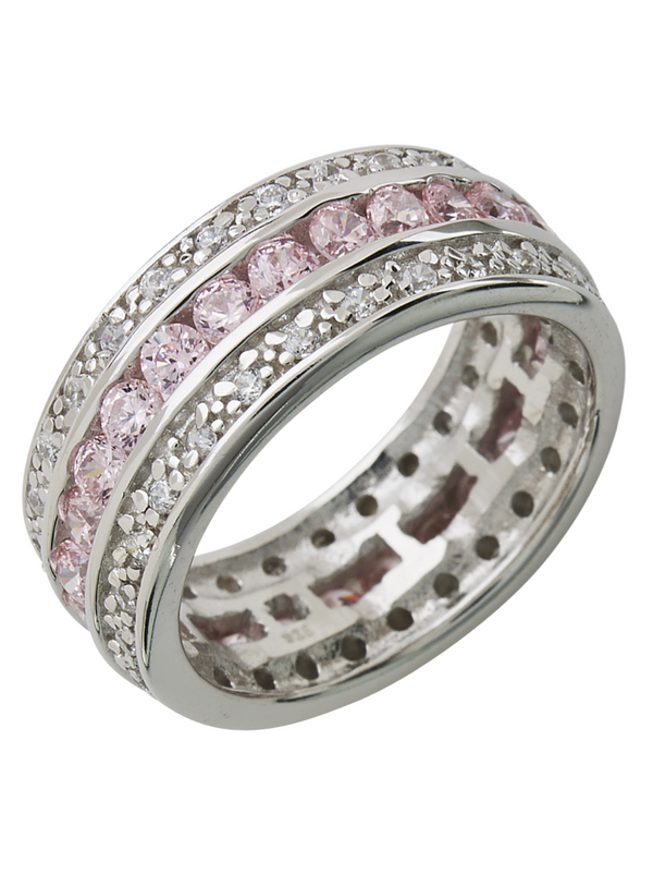 Sterling Silver Paris N' Pink Ring - Sterling Forever
