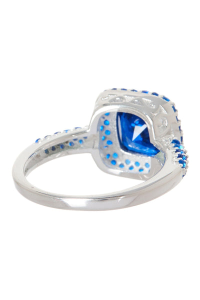 Sterling Silver Sapphire CZ Legacy Ring