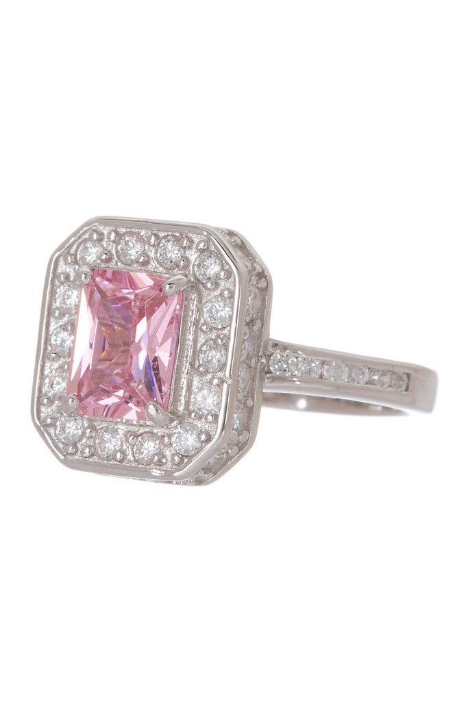 Sterling Silver Pink CZ Legacy Ring Ring Sterling Forever
