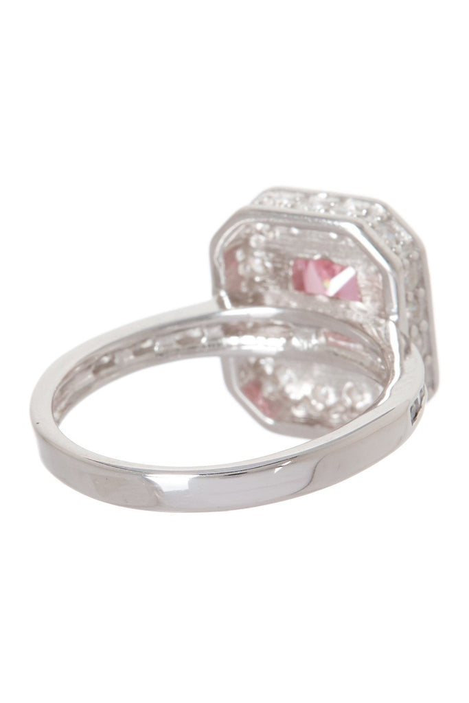 Sterling Silver Pink CZ Legacy Ring