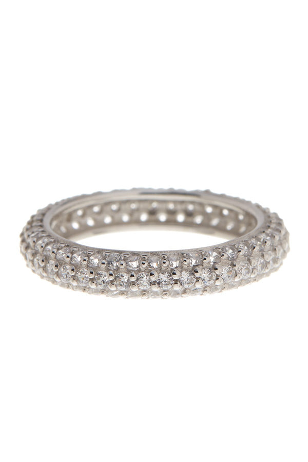 Sterling Silver Pave CZ Eternity Ring - Sterling Forever