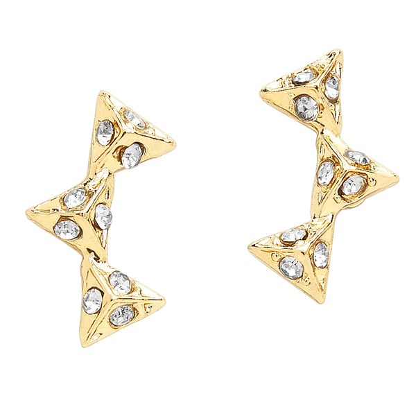 Triad CZ Stud Earrings - Sterling Forever