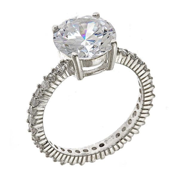 Sterling Silver 3.5 Ct Brilliant Cut Cz Engagement Ring - Sterling Forever