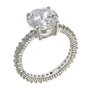 Sterling Silver 3.5 Ct Brilliant Cut Cz Engagement Ring