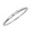 Sterling Silver Diamond CZ Stackable Band Ring