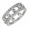 Sterling Silver Open Bezel Set Eternity Band Ring