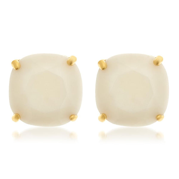 On Cloud 9 Square Stud Earrings - Sterling Forever