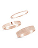 Sterling Silver Textured Stack Rings - Set of 3 - Sterling Forever
