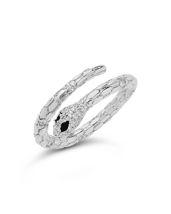 Open Textured Snake Ring - Sterling Forever