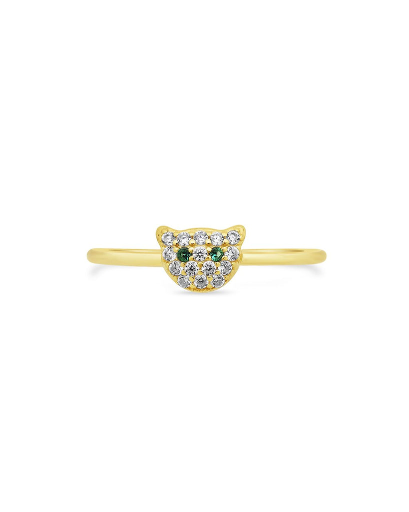 Sterling Silver CZ Jaguar Ring Ring Sterling Forever Gold 6