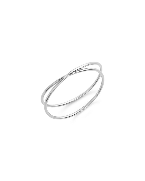 Sterling Silver 2 Layer Ring - Sterling Forever