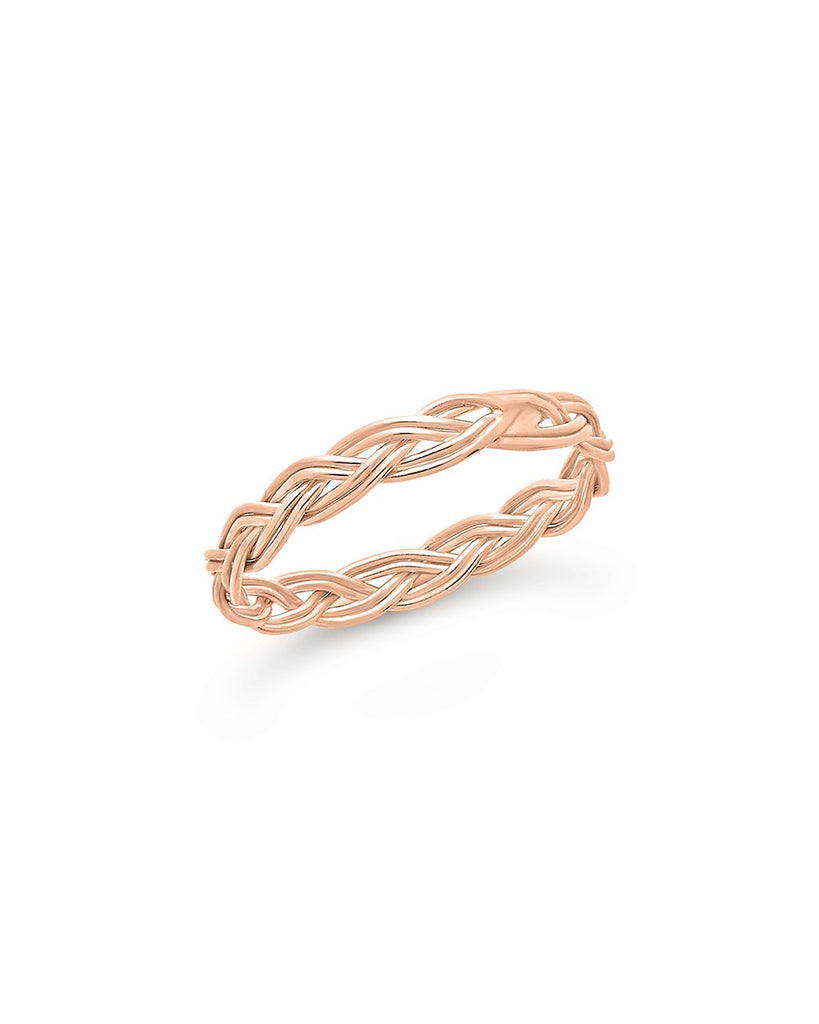 Sterling Silver Braided Twist Band - Sterling Forever