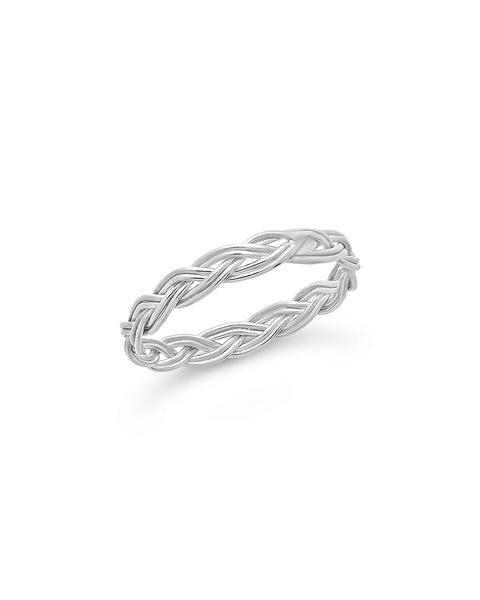Sterling Silver Braided Twist Band Ring Sterling Forever