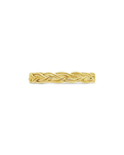 Sterling Silver Braided Twist Band Ring Sterling Forever Gold 6