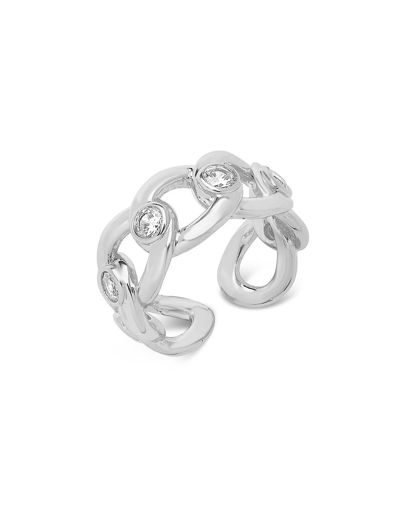 Curb Chain Open Band Ring Ring Sterling Forever