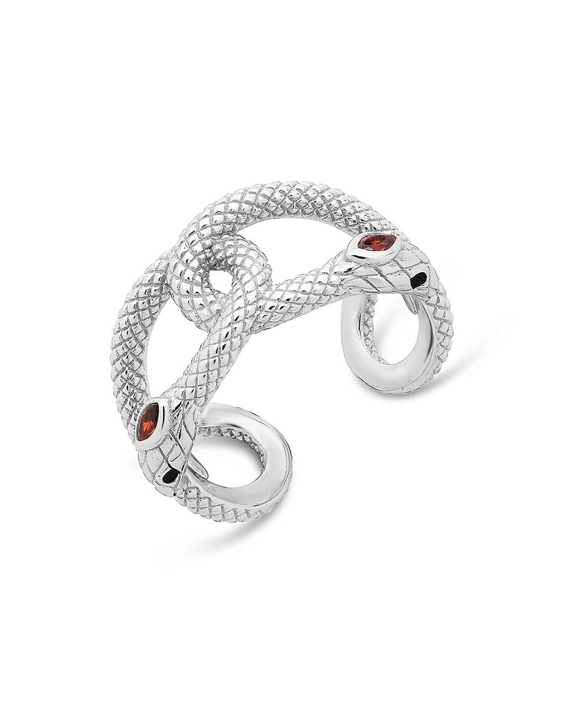 Sterling Silver Interlocking Snake Ring Ring Sterling Forever