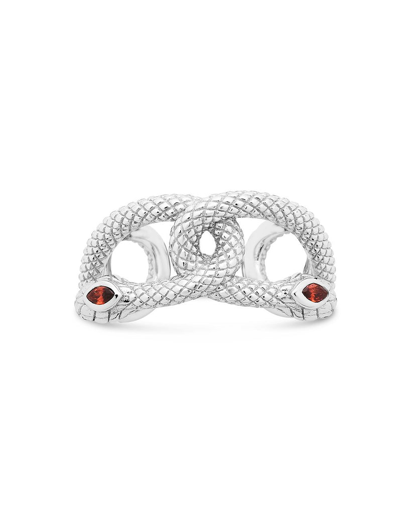 Sterling Silver Interlocking Snake Ring Ring Sterling Forever Silver 6