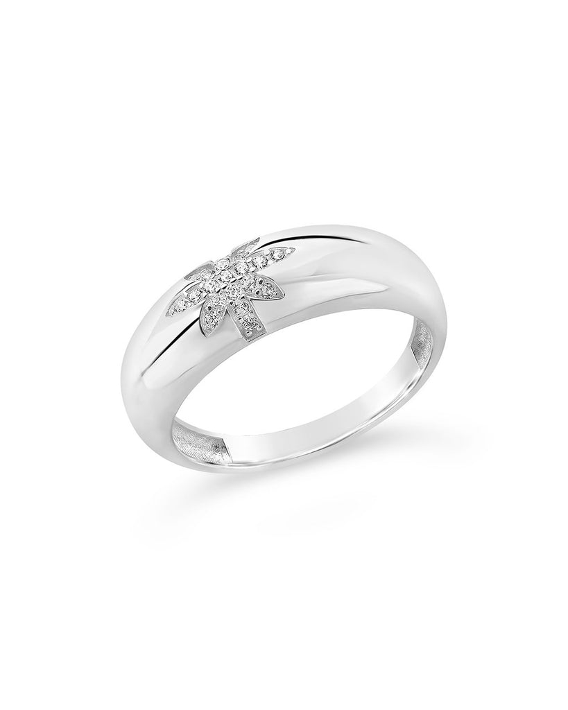Sterling Silver CZ Burst Band Ring Ring Sterling Forever