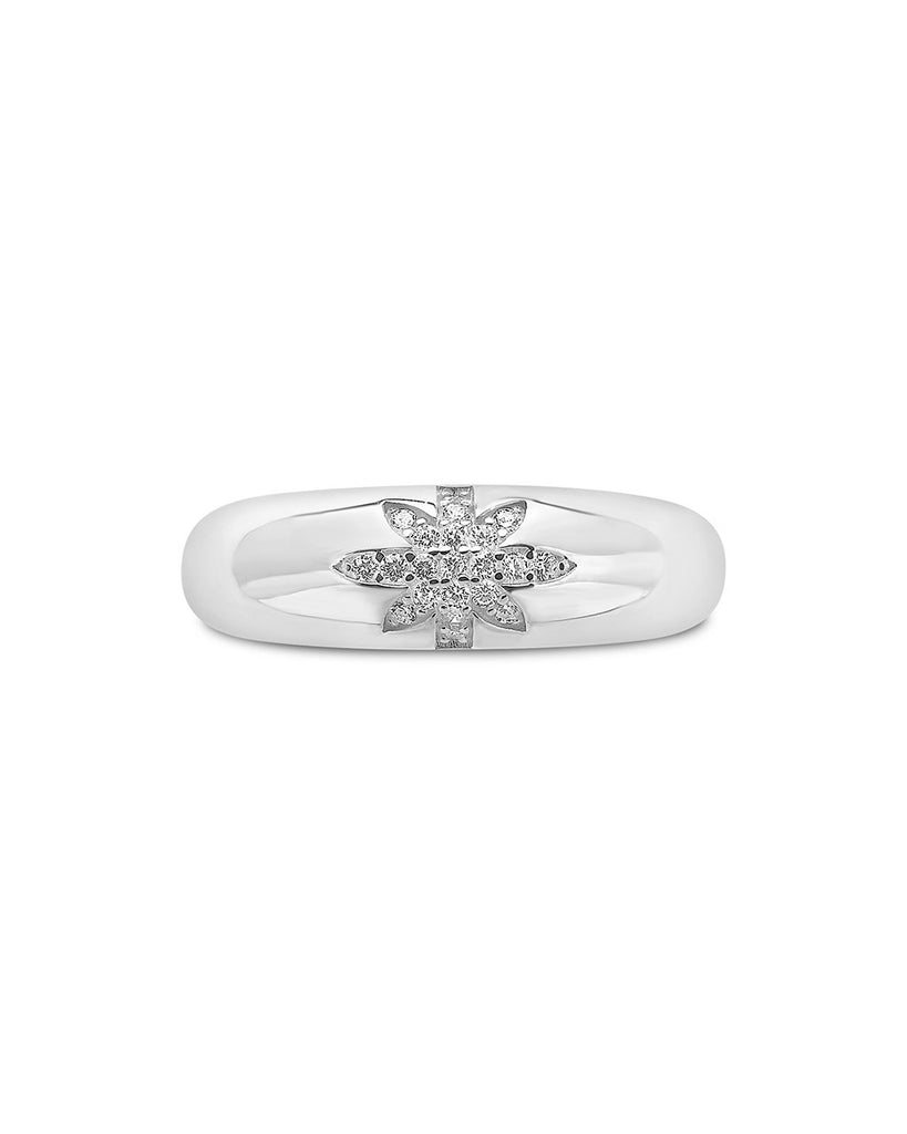 Sterling Silver CZ Burst Band Ring Ring Sterling Forever Silver 6
